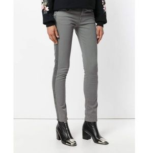 Off-White grey strap jeans